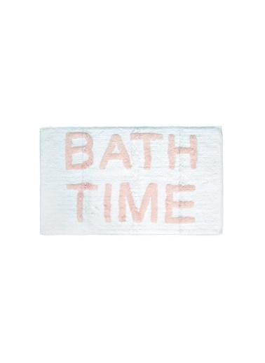 İrya Home&More Pamuk Banyo Paspası Bath Tıme Beyaz/Mavı 51*81 Pembe